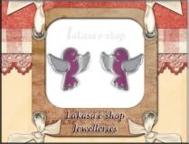 κοσμήματα_παιδικα_σκουλαρίκια_σμάλτο_ασημένια_925_kids_lakasa_e-shop_Jewelleries