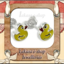 duck_enamel_earrings_pendant_kids_jewelry_lakasa_e-shop_silver_925_jewelleries_animals_figures
