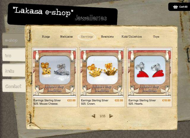 Lakasa e-shop Jewelleries Ασημένια Κοσμήματα 925 Σκουλαρίκια Επίσχρυσα Κορώνες